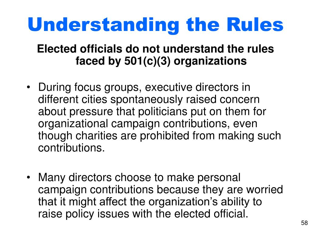 Understanding the Rules