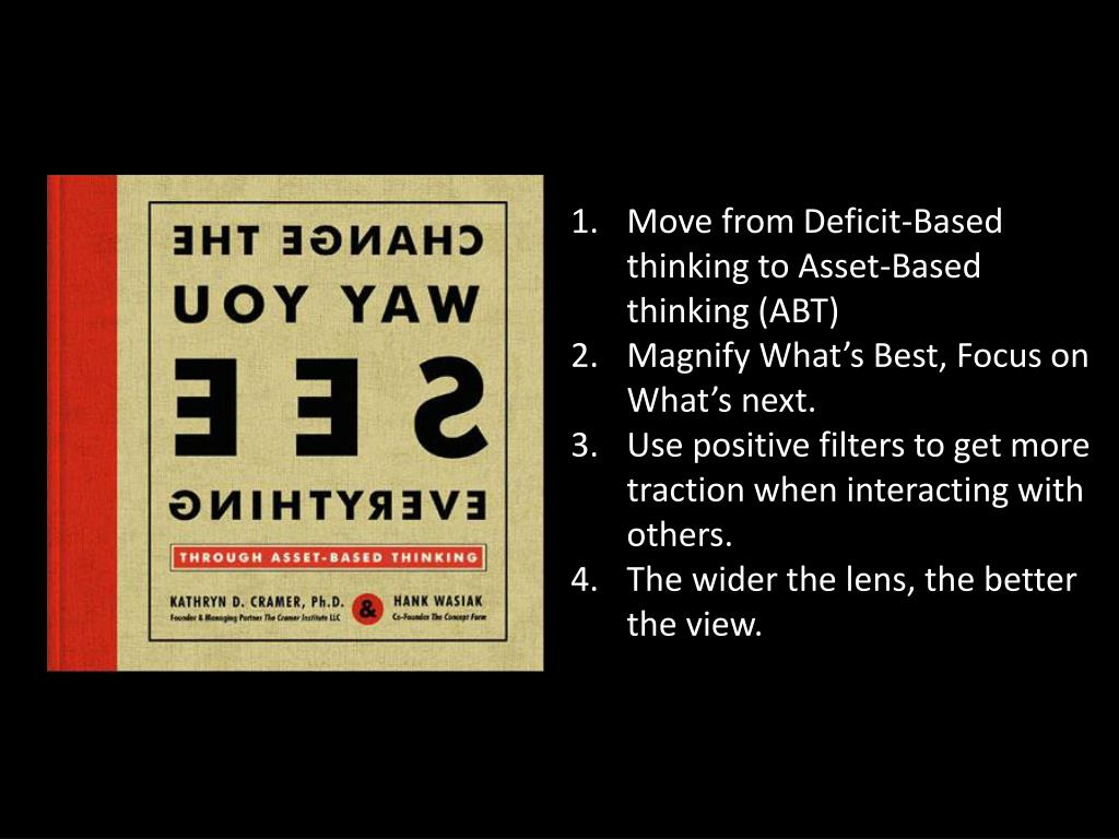 Move from Deficit-Based thinking to Asset-Based thinking (ABT)