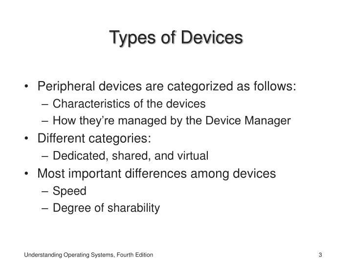 Types of devices