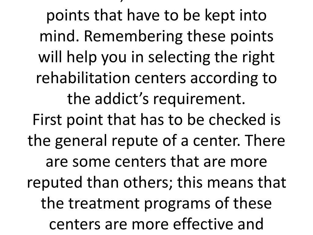 Drug Rehabilitation Centers