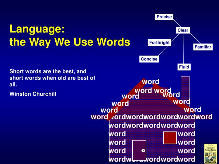 Language the way we use words