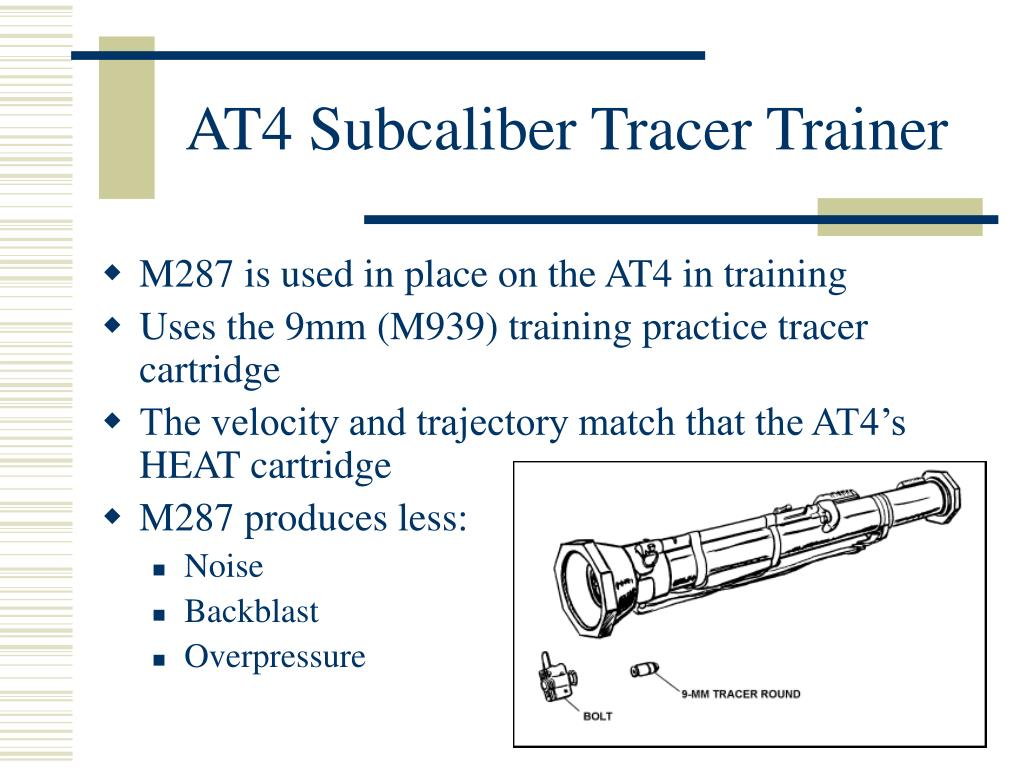 AT4 Subcaliber Tracer Trainer