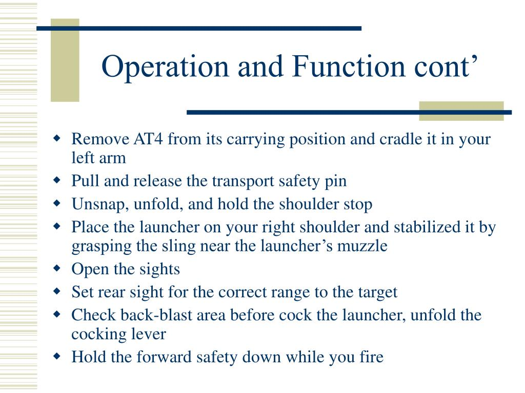 Operation and Function cont'