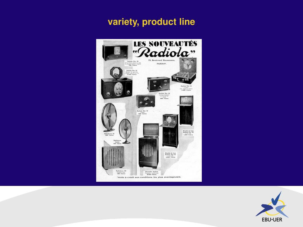 variety, product line