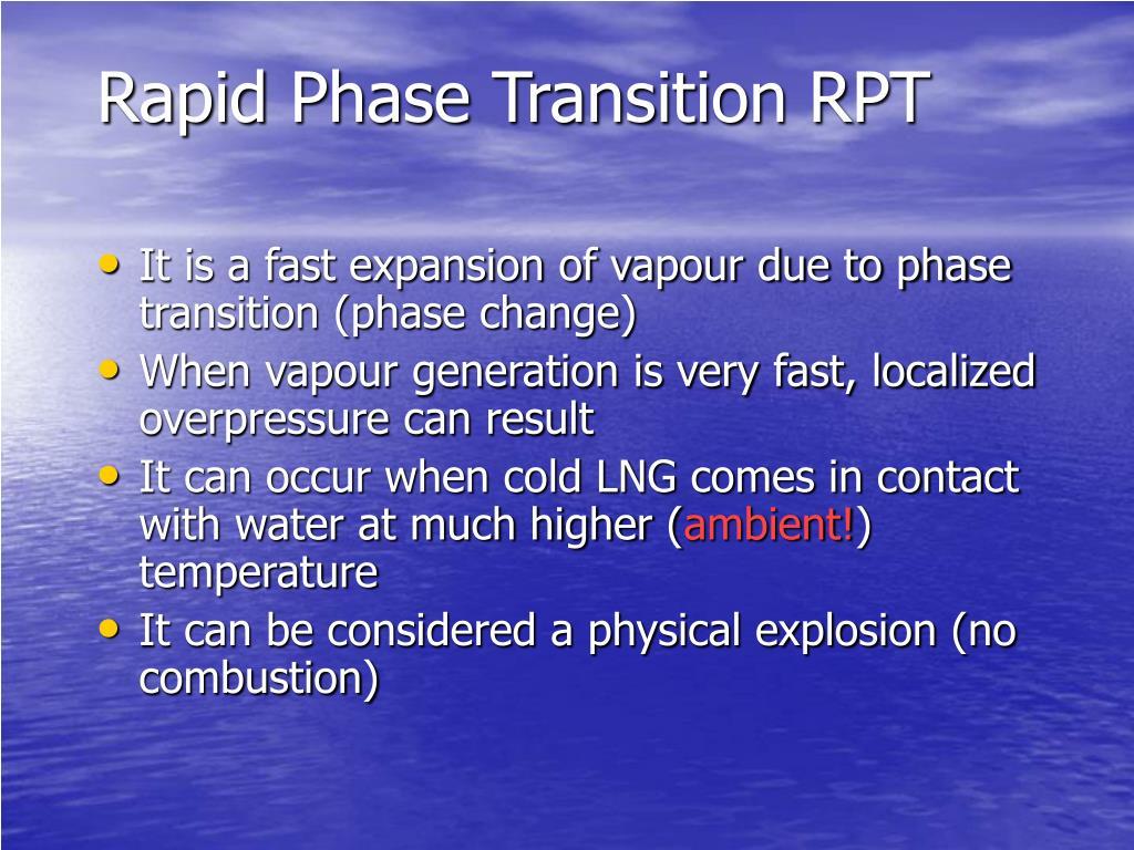 Rapid Phase Transition RPT
