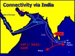 connectivity via india