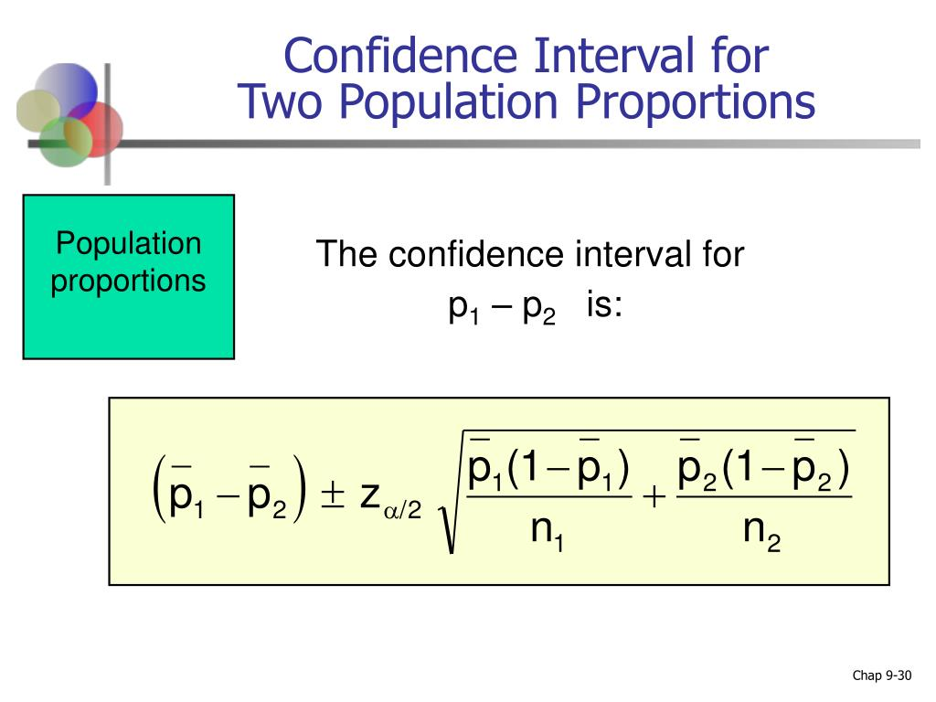 how to find a confidence interval for two populations