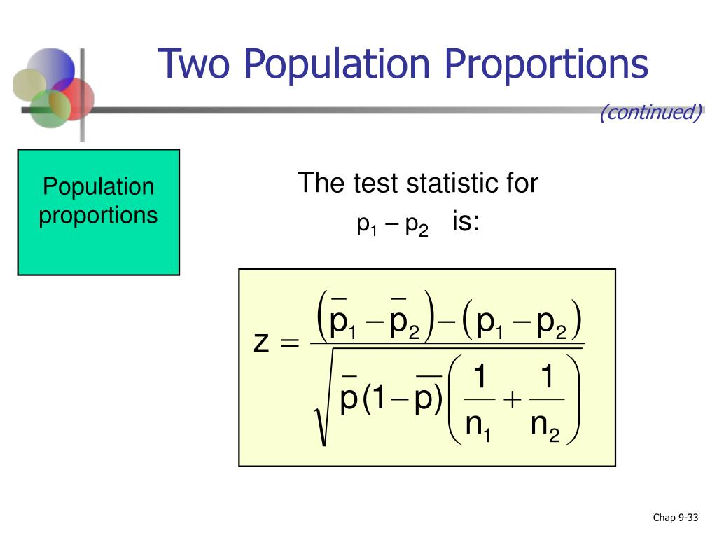 Two Population Proportions