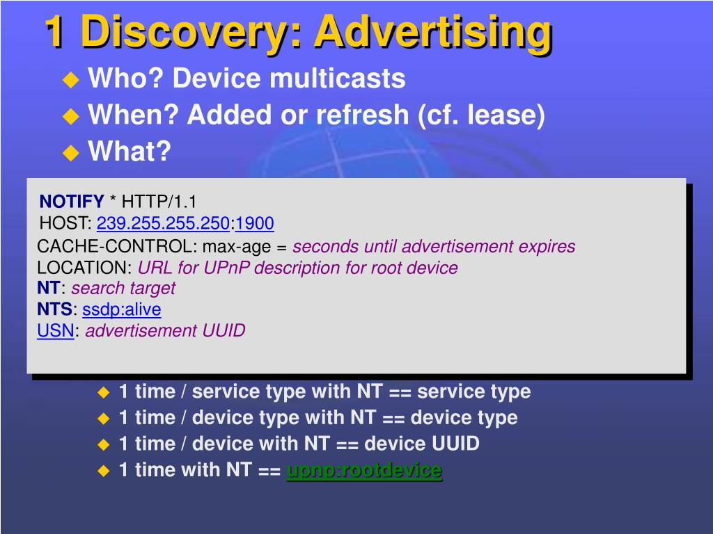 1 Discovery: Advertising