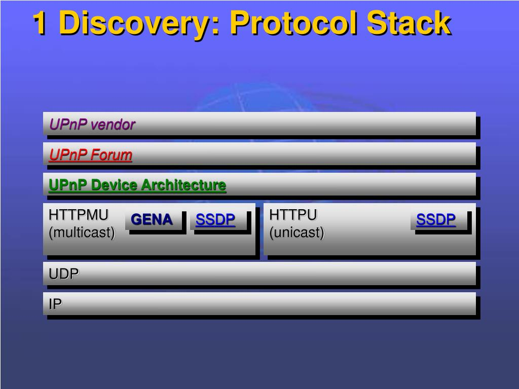 1 Discovery: Protocol Stack