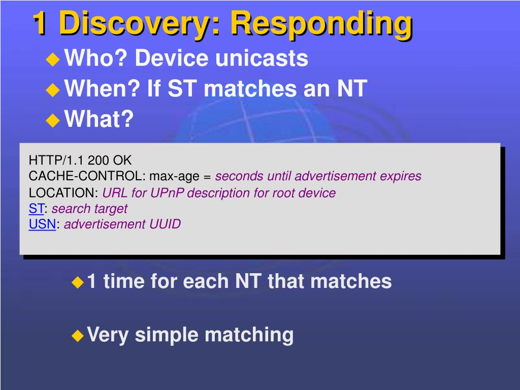 1 Discovery: Responding