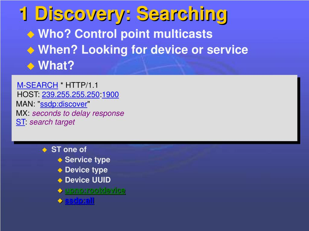 1 Discovery: Searching