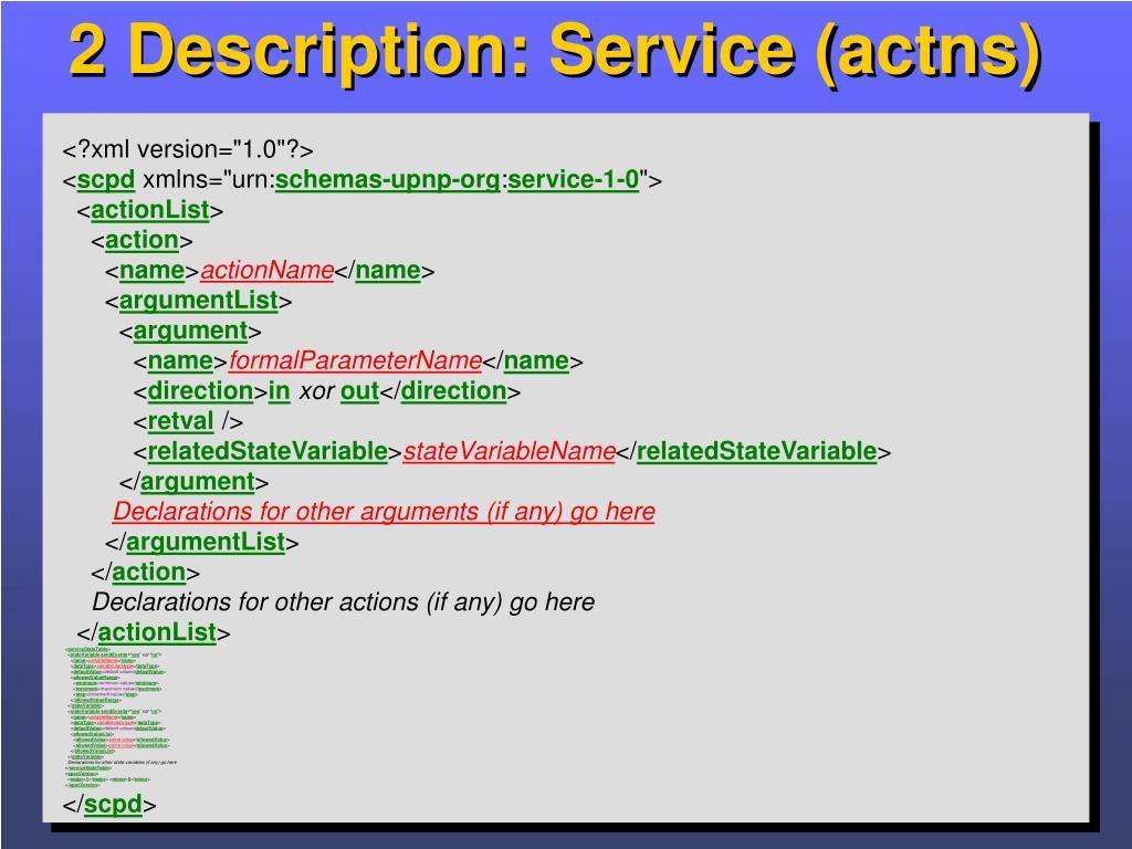 2 Description: Service (actns)