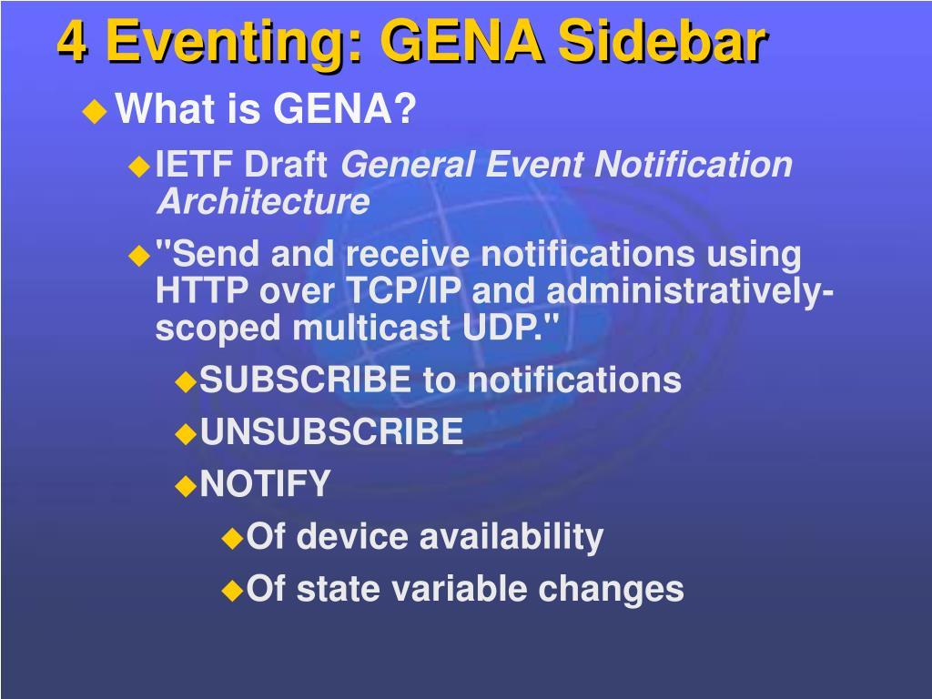4 Eventing: GENA Sidebar