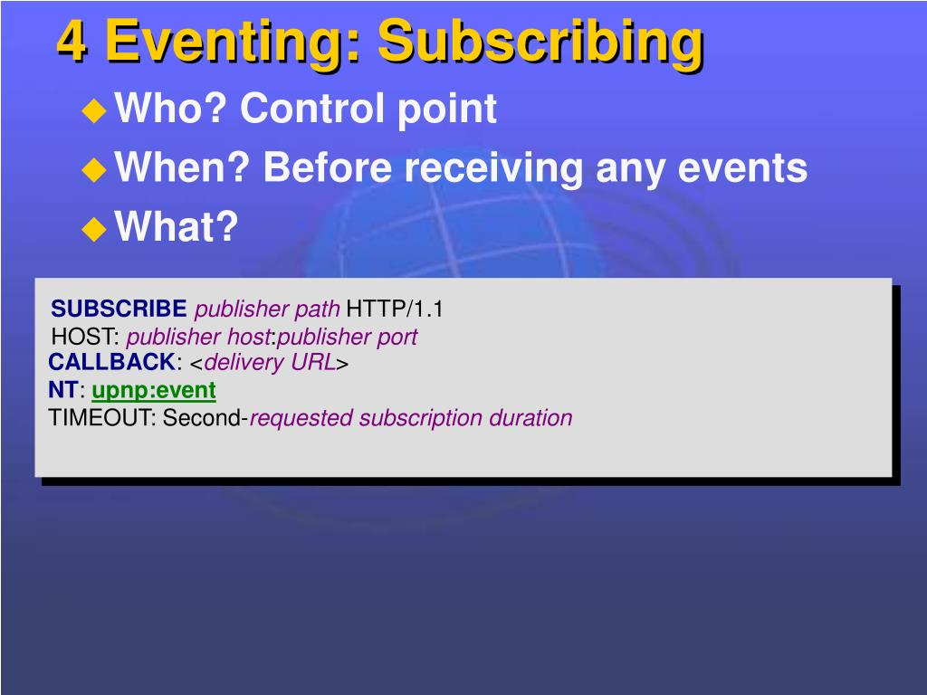 4 Eventing: Subscribing