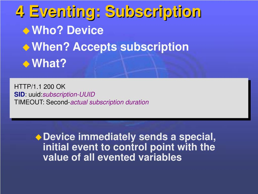 4 Eventing: Subscription