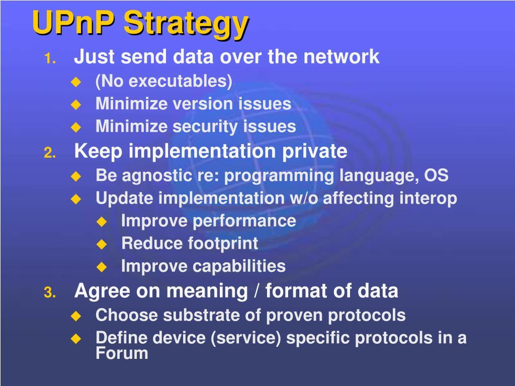 UPnP Strategy
