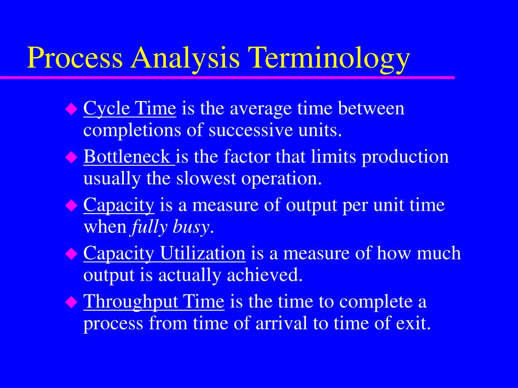 Process Analysis Terminology