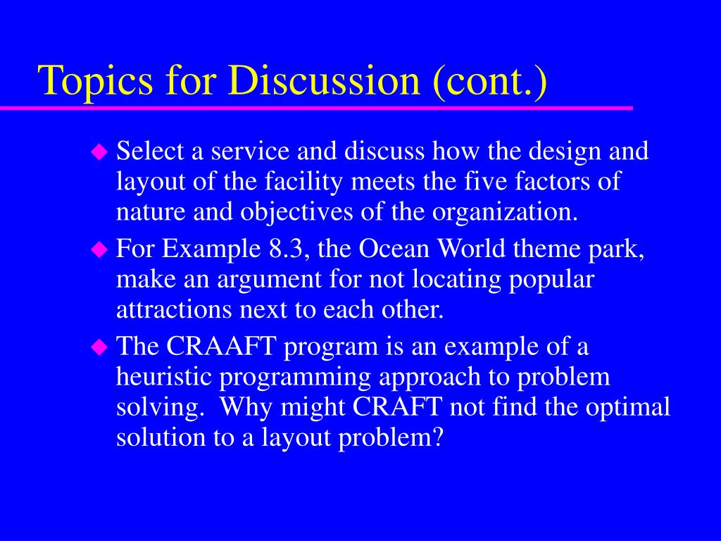 Topics for Discussion (cont.)