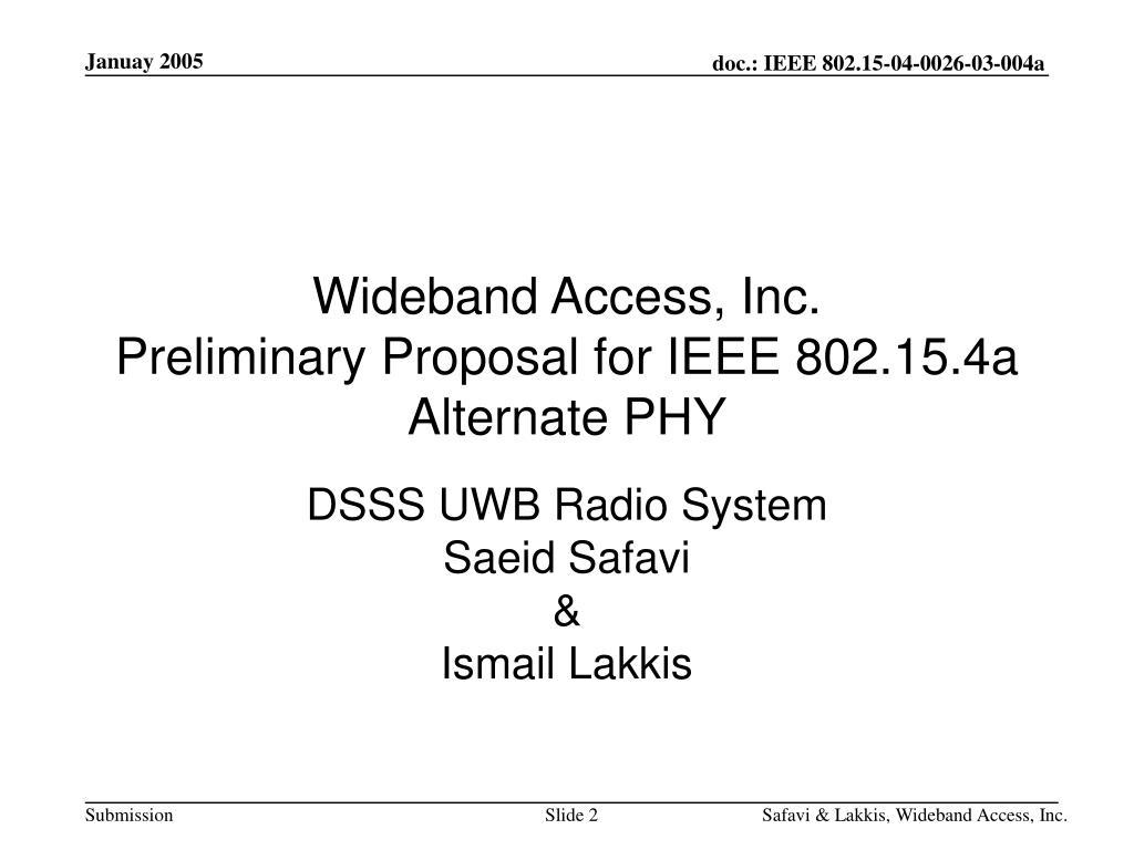 Wideband Access, Inc.