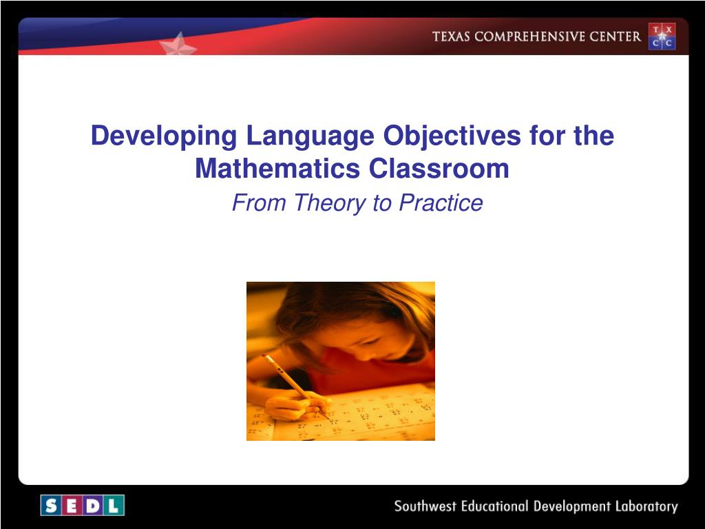 Developing Language Objectives for the Mathematics Classroom