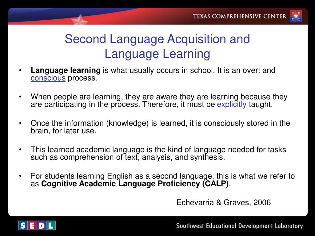 Second Language Acquisition and