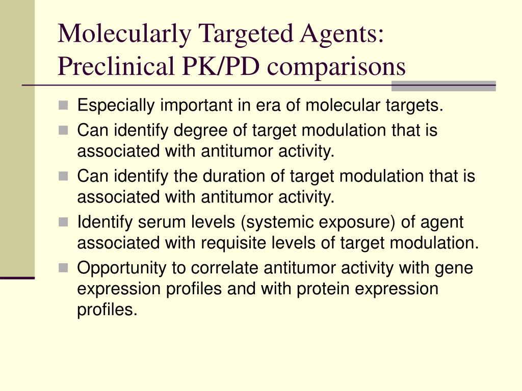 Molecularly Targeted Agents: