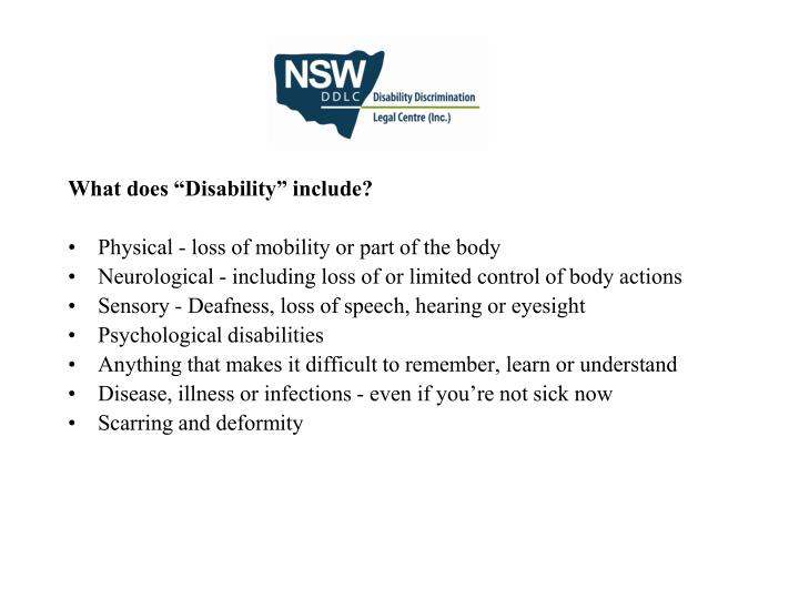 """What does """"Disability"""" include?"""