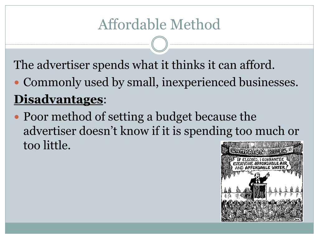 Affordable Method