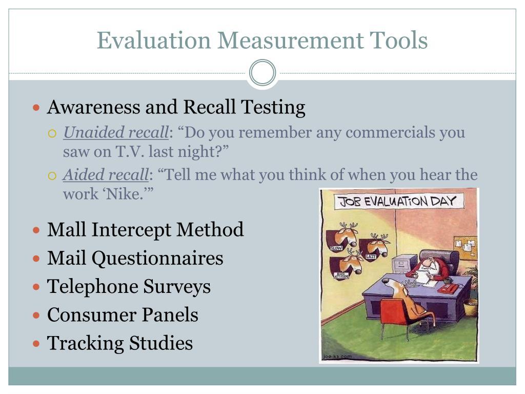 Evaluation Measurement Tools