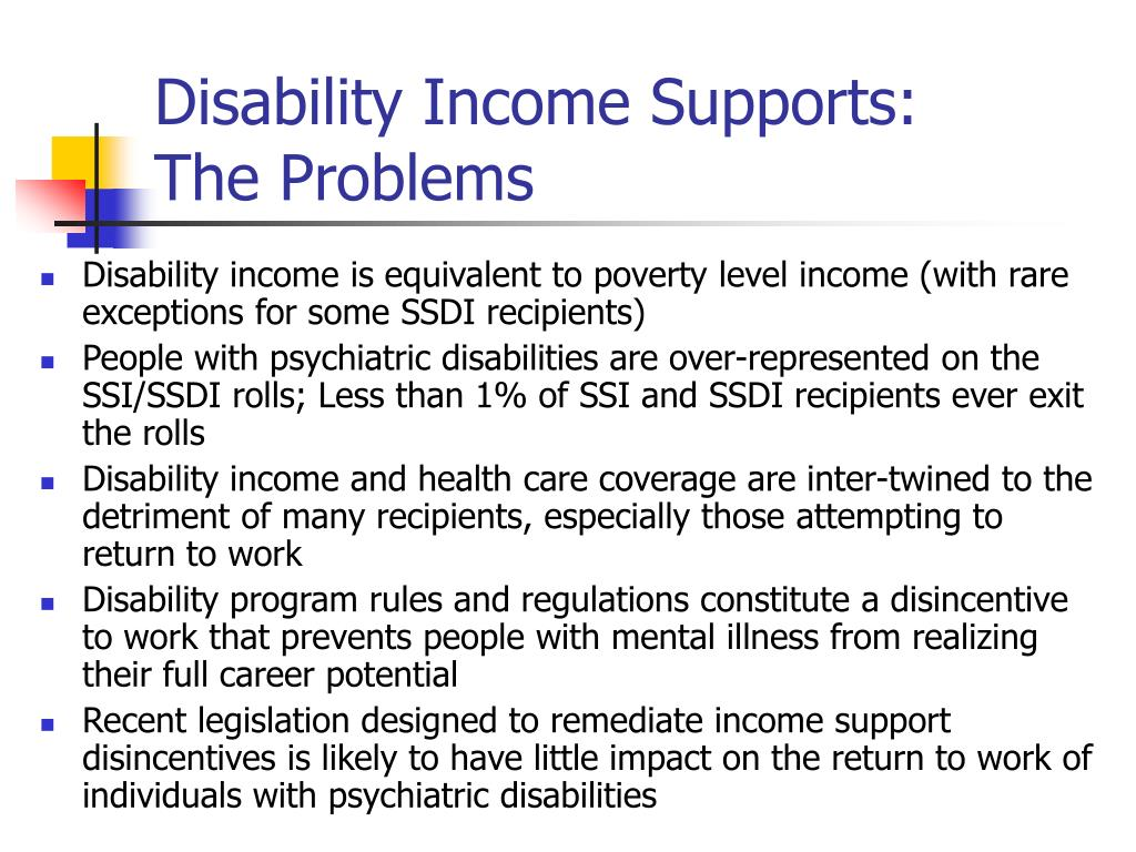 Disability Income Supports: