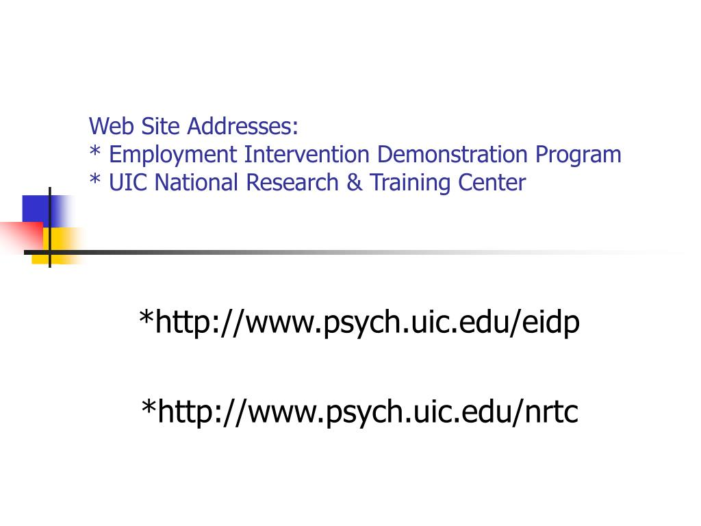 Web Site Addresses:
