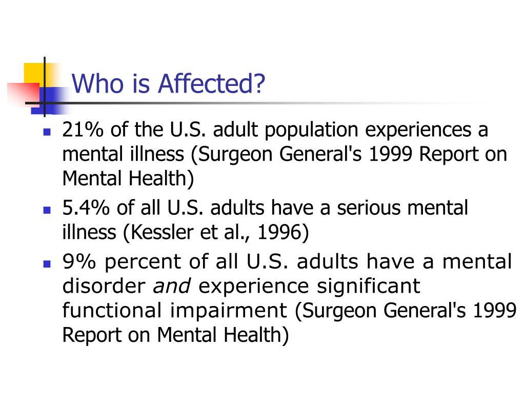 Who is Affected?
