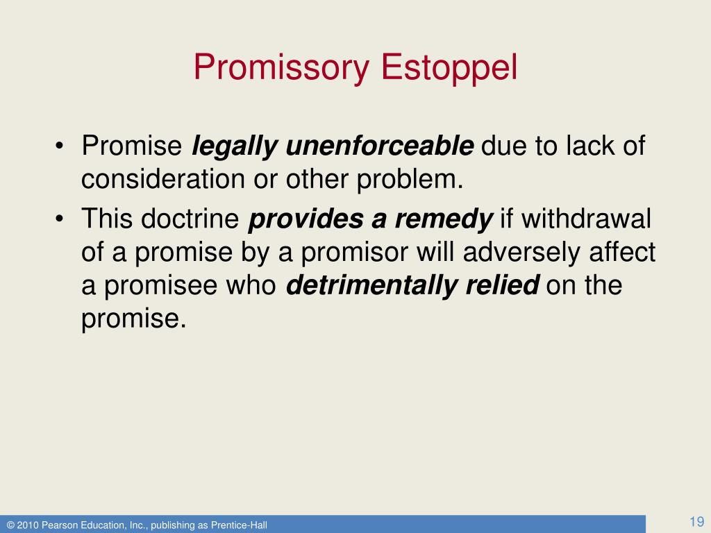 doctrine promissory estoppel essays Doctrine of promissory estoppel - essay example related essays making specific reference to the doctrine of promissory estoppel as developed in the case of.