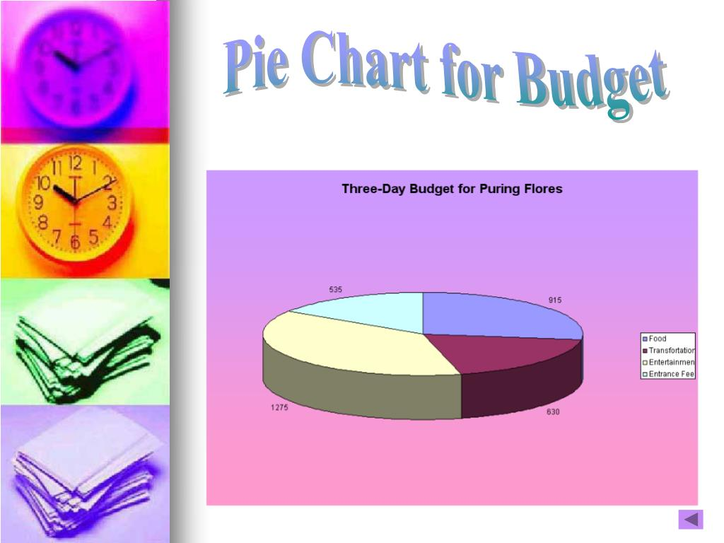 Pie Chart for Budget