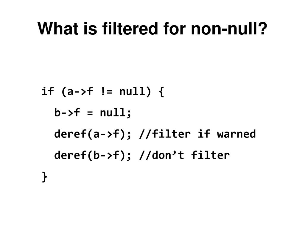 What is filtered for non-null?