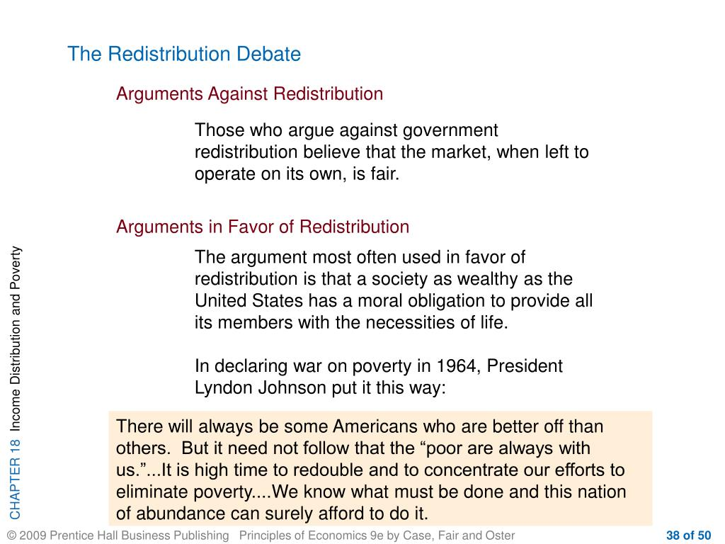 The Redistribution Debate