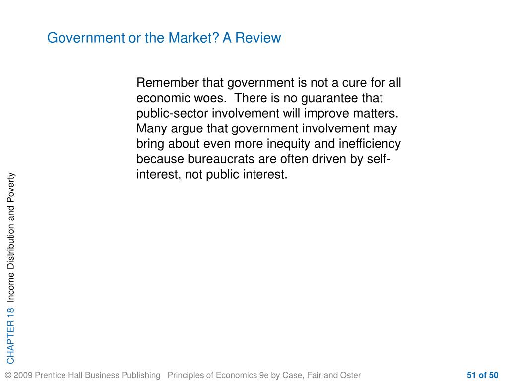 Government or the Market? A Review