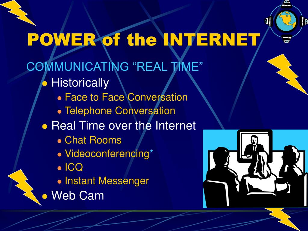 "COMMUNICATING ""REAL TIME"""