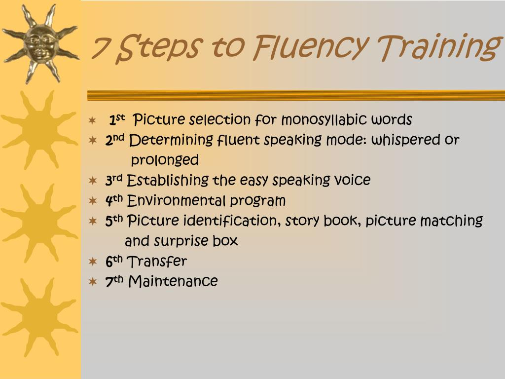 7 Steps to Fluency Training