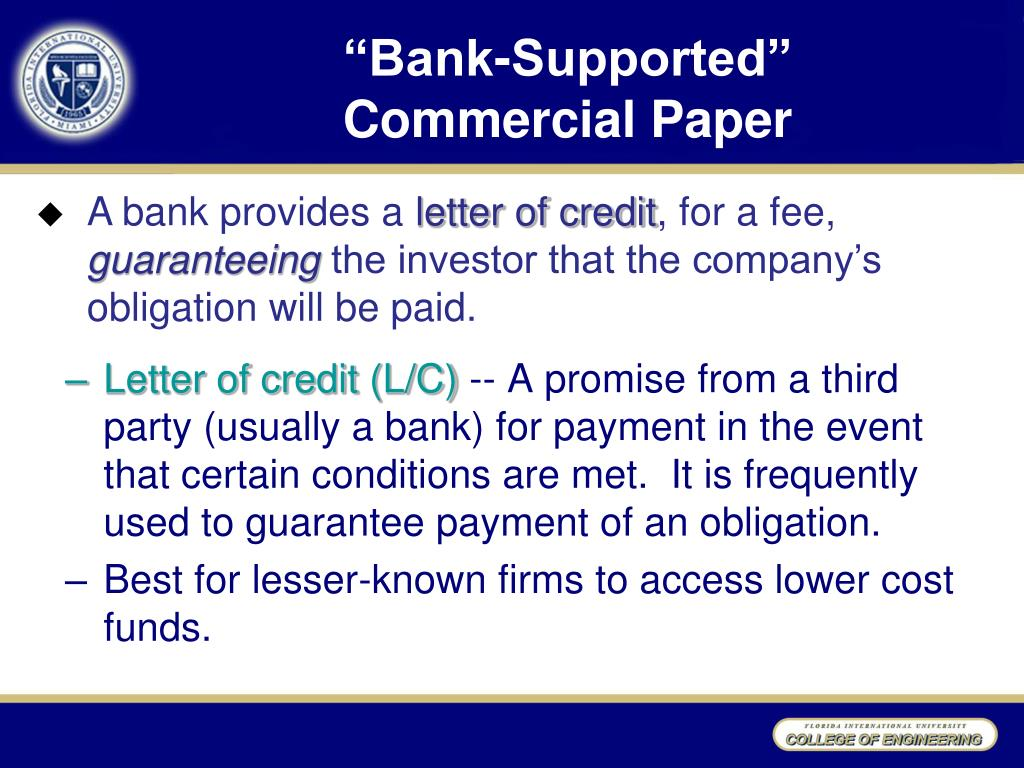 """""""Bank-Supported"""""""