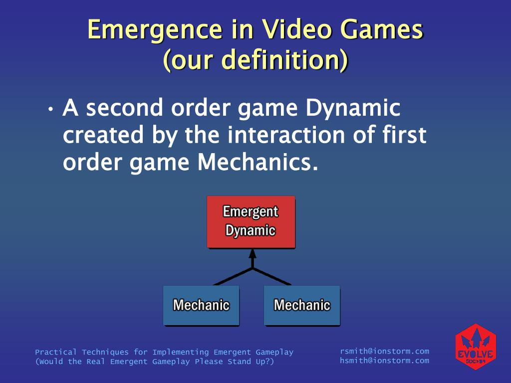 Emergence in Video Games