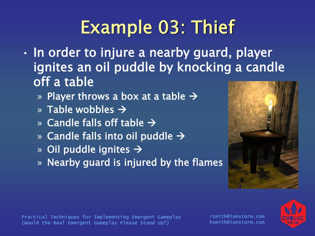 Example 03: Thief
