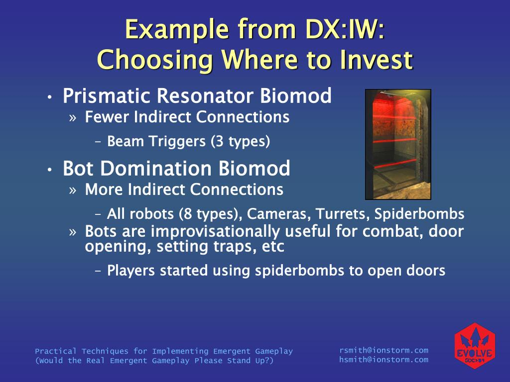 Example from DX:IW: