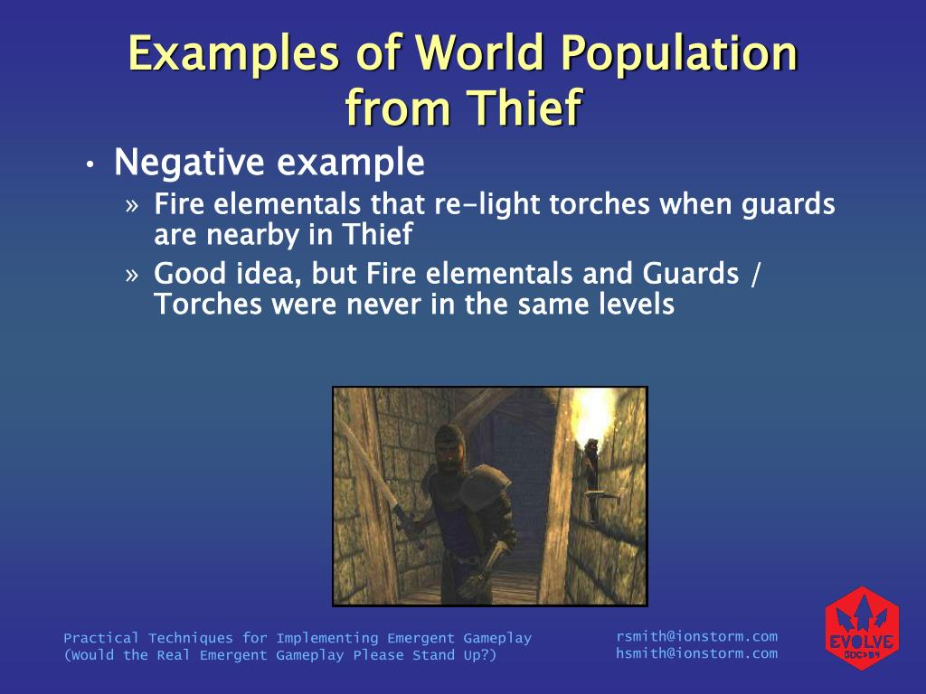 Examples of World Population from Thief