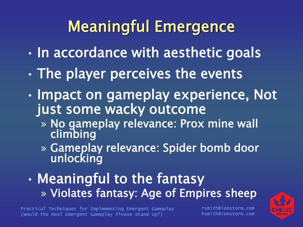 Meaningful Emergence