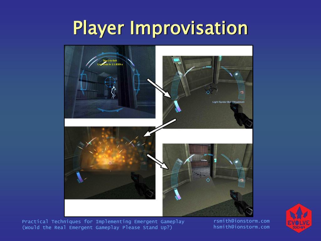Player Improvisation