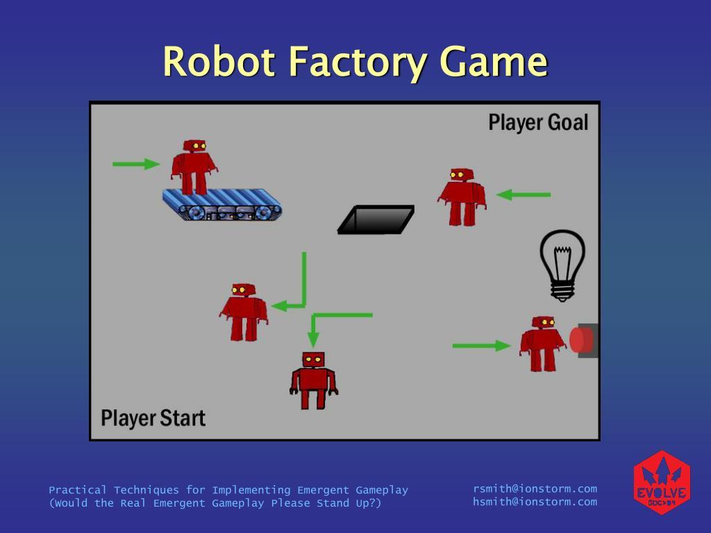 Robot Factory Game