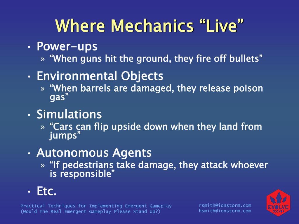 "Where Mechanics ""Live"""