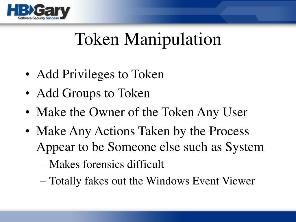 Token Manipulation
